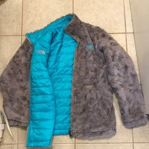 The North Face Reversible Fleece Puffer Jacket